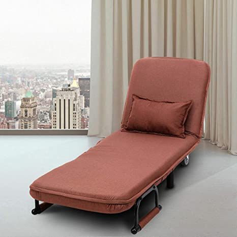 Amazon.com: Sofá cama convertible con reposabrazos plegable ...