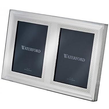 Waterford Lismore Diamond Silver 5x7  Double Frame