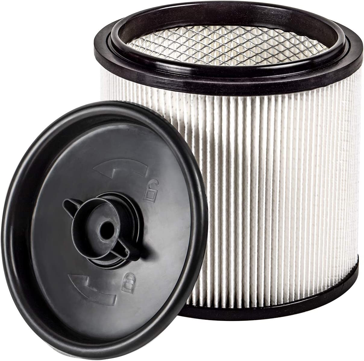 Vacmaster HEPA Material Fine Dust Cartridge Filter & Retainer, VCFH