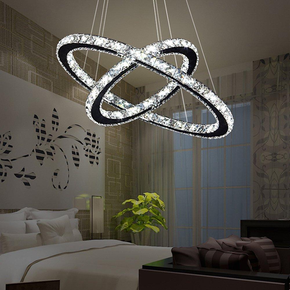 Kronleuchter Design 48w led kristall design hängele deckenle deckenleuchte