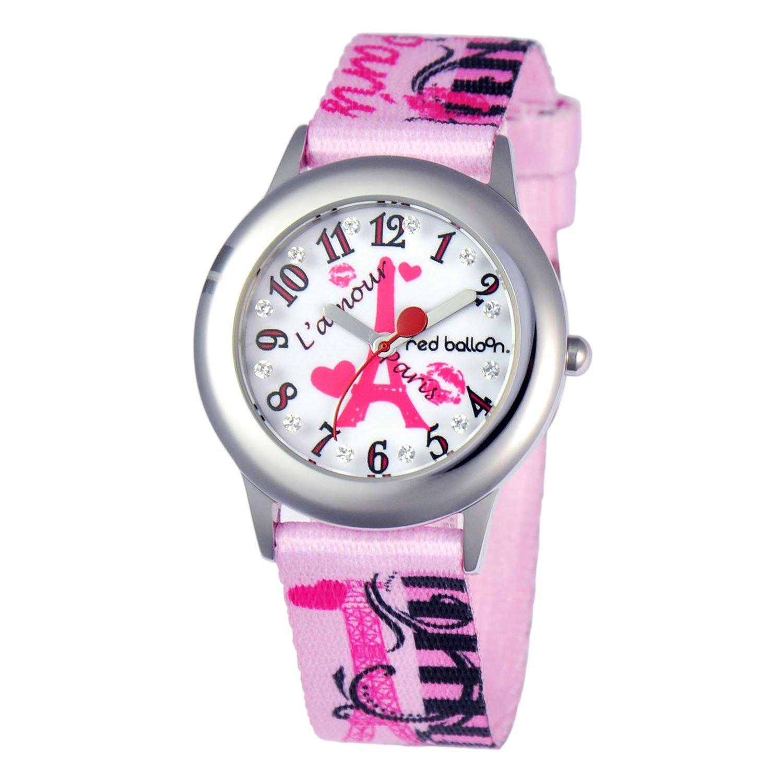 Red Balloon Kids' W000356 Paris L 'Amour Tween Glitz Stainless Steel Printed Strap Watch