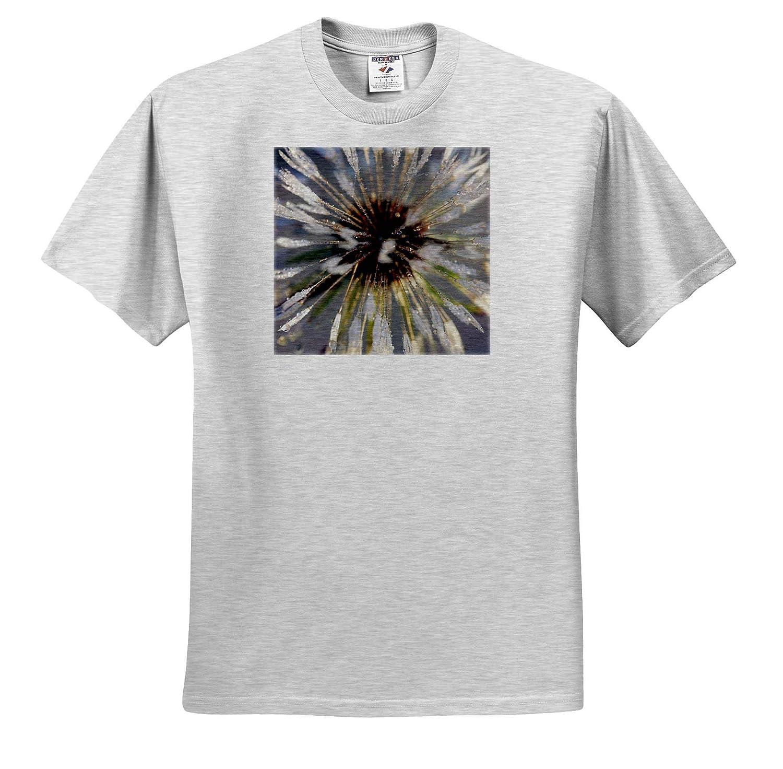 Macro Photograph of a Wet Dandelion Puff - Adult T-Shirt XL 3dRose Stamp City Flowers ts/_309954