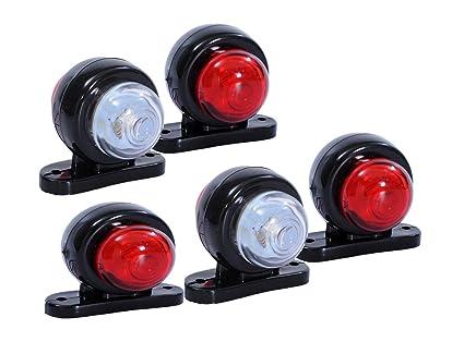 Flexzon 5 x rosso bianco angolo laterale luci led outline lampada