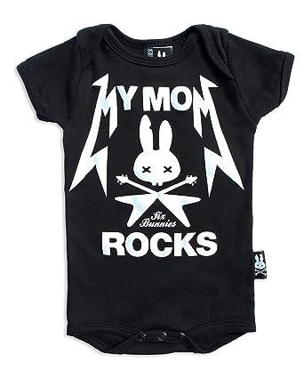 Six Bunnies Mom /& Dad Hearts Tattoo Flash Rockabilly Baby Body Strampler
