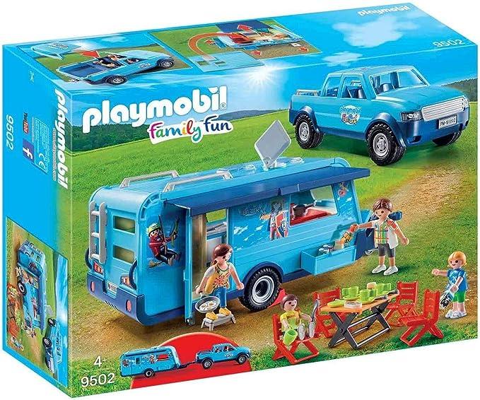 Playmobil 9502 Fun Park Pick up und Wohnwagen: Amazon.es ...