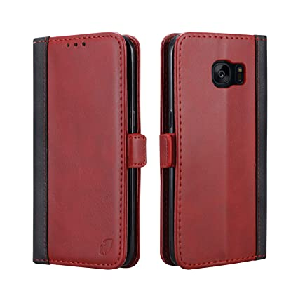 the latest 5670c ee2cb Samsung S7 Edge Cover Leather Flip Cover Wallet Cover: Amazon.in ...