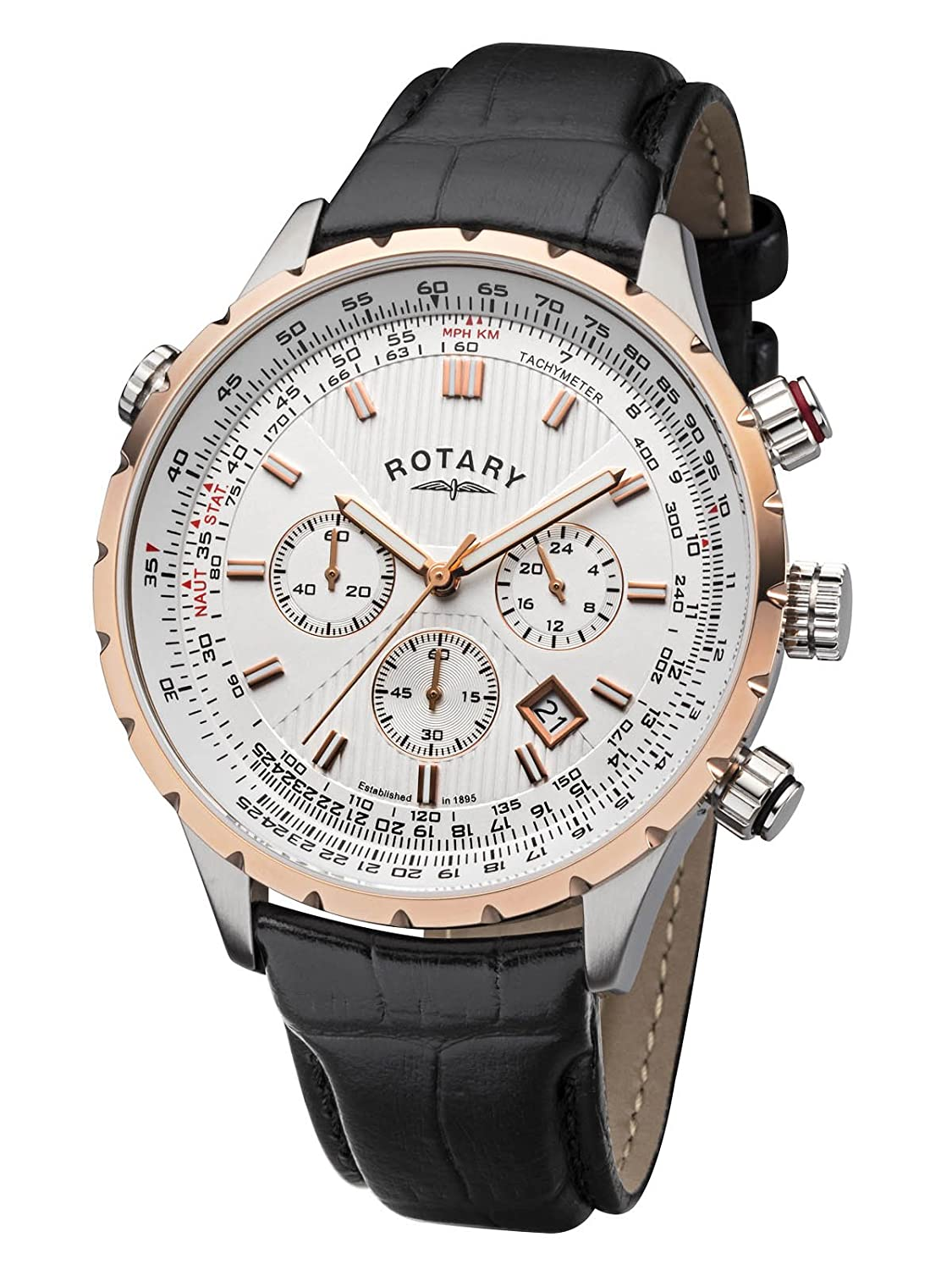 Rotary Herrenuhr Chronograph Dolphin GS00452-02