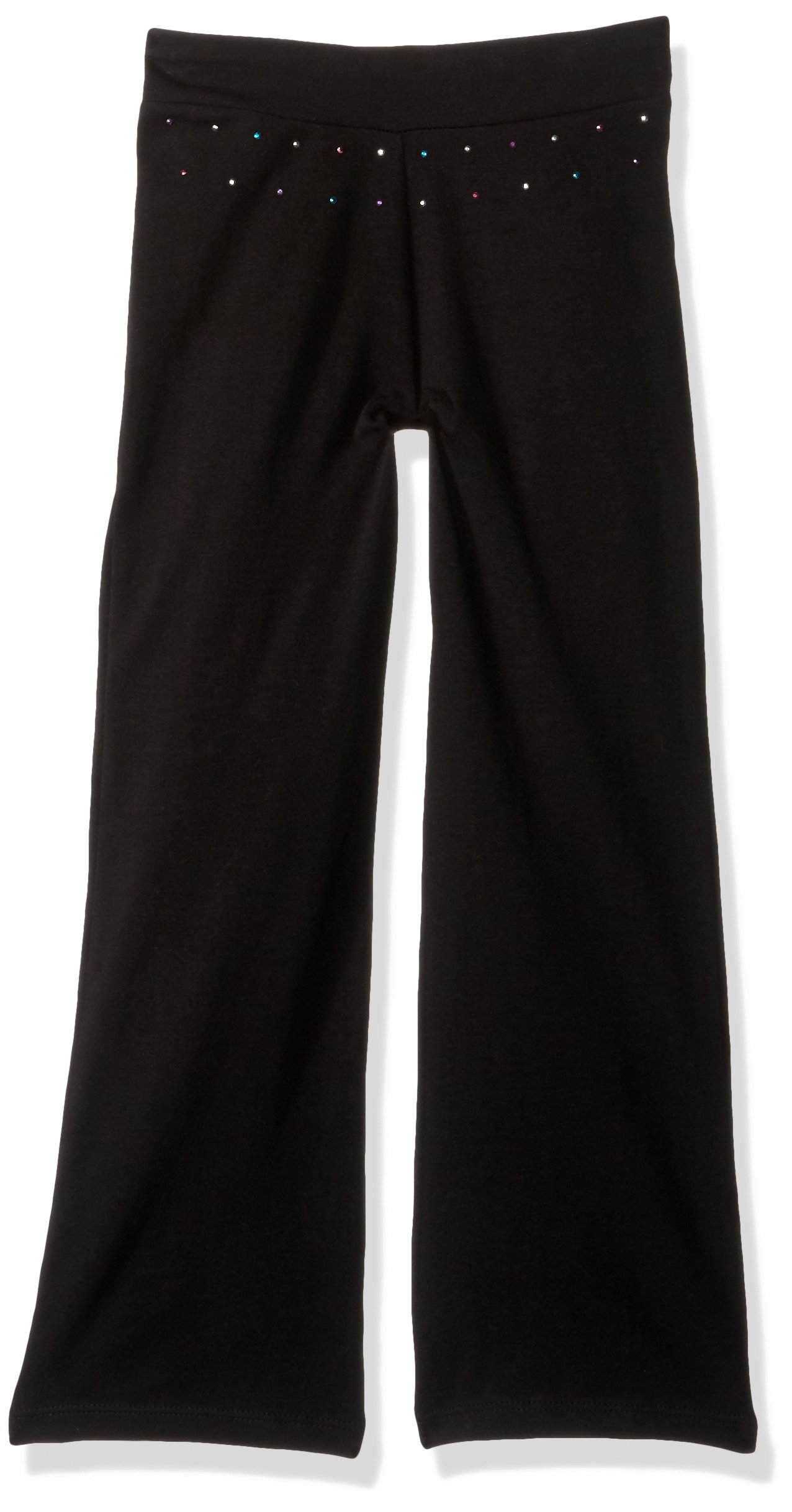 Jacques Moret Little Girls' Basic Dance Pant, Black Bootleg, Small