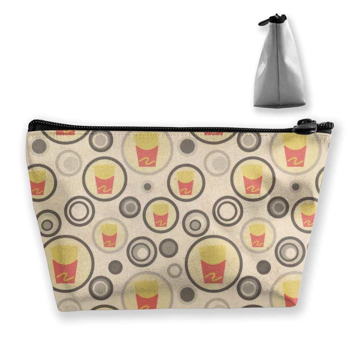 Trapezoid Toiletry Pouch Portable Travel Bag Fries Zipper Wallet