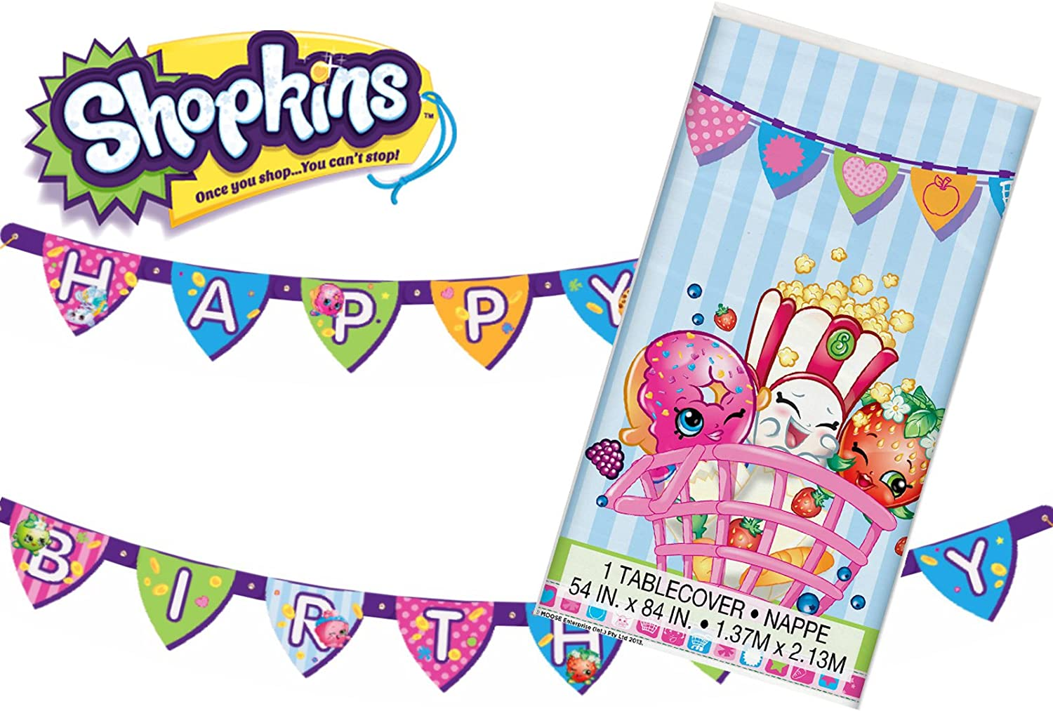 Shopkins Table Cover   Party Decorations