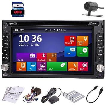 Automotive Parts CD 2 DIN en el Tablero de Autoradio GPS Sat Multimedia Unidad Principal Cubierta