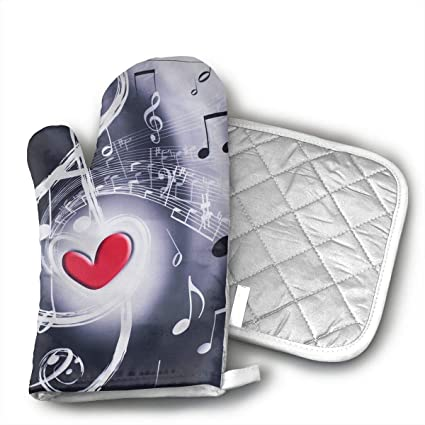 b688f332a45c Wialis8 Music   Red Heart Sackpack Drawstring Backpack Sport Gym Bag Yoga  Runner Daypack Oven Mitt