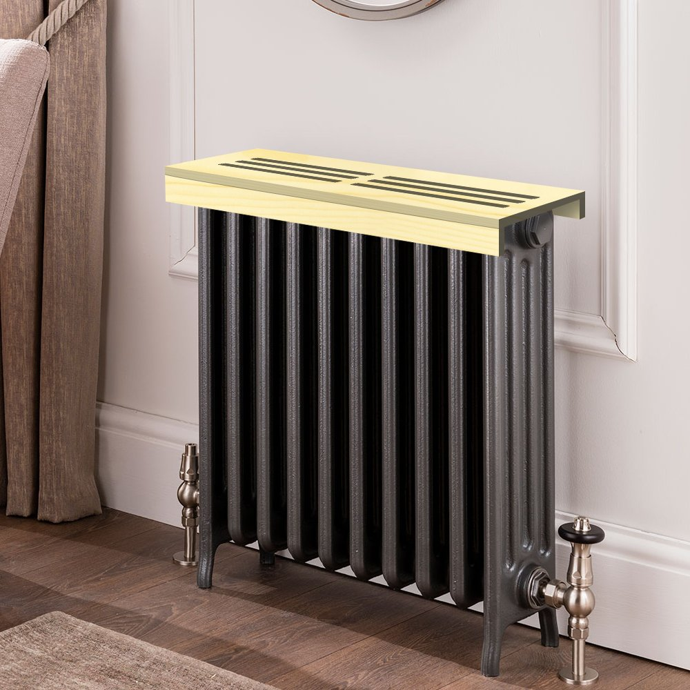 Unfinished pine Wooden Radiator Cover Shelf, 26'' Width x 8'' Length x 3'' Height