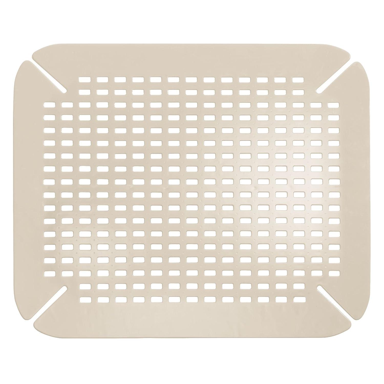 Sp/ülbeckenmatte f/ür das Sp/ülbecken mDesign Sp/ülbeckeneinlage 2er-Set praktisch einstellbare Waschbeckenmatte Farbe: Taupe