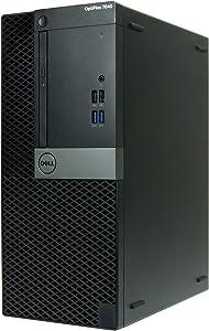 Dell OptiPlex 7040-T, Core i7-6700 3.4GHz, 8GB RAM, 512GB Solid State Drive, DVDRW, Windows 10 Pro 64bit (Renewed)
