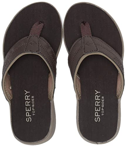 bb9710ec4 Sperry Boys  Tailslide Flip-Flop Brown 100 Medium US Toddler