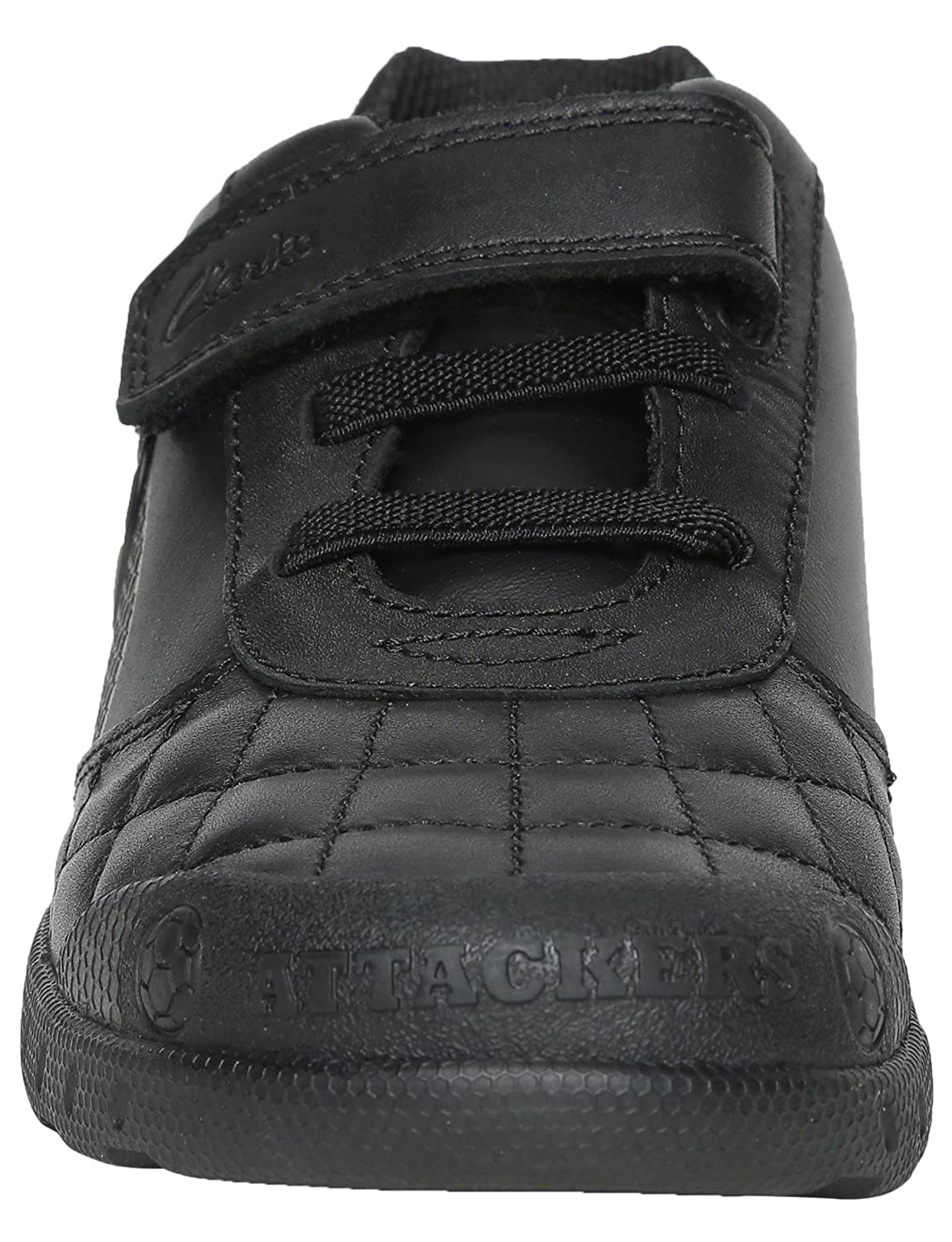 606856be1ef1 Clarks Boys Football Design School Shoes Leader Game - Black Leather - UK  Size 1H - EU Size 33 - US Size 1.5XW  Amazon.co.uk  Shoes   Bags