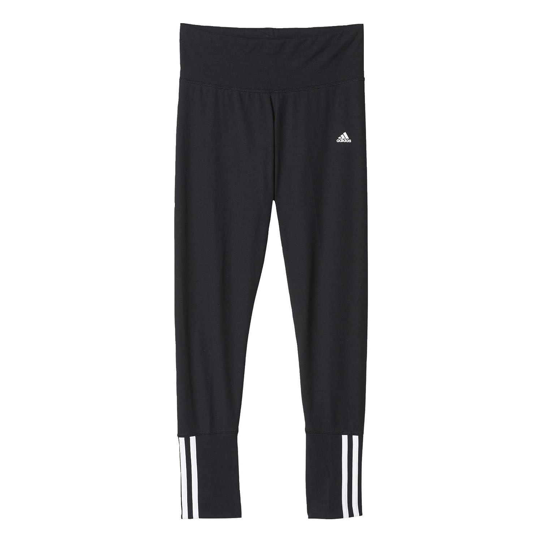 adidas Essentials Mid 3S Tight Pantalón Capri, Mujer, Negro/Blanco ...