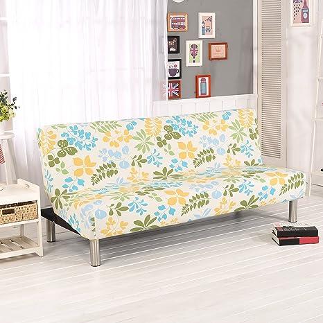 Fastar Funda de Clic-clac elástica, Funda Cubre Protector sofá de 3 plazas,Impresión Floral (F)