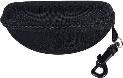 CTM Estuche de anteojos y gafas con cremallera semi-dura con presilla para cinturón para hombre: Amazon.es: Ropa y accesorios