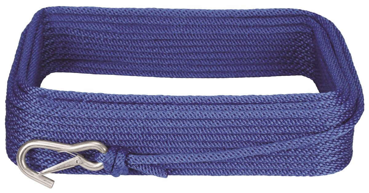 Extreme Max BoatTector Premium Solid Braid MFP Anchor Line with Snap Hook