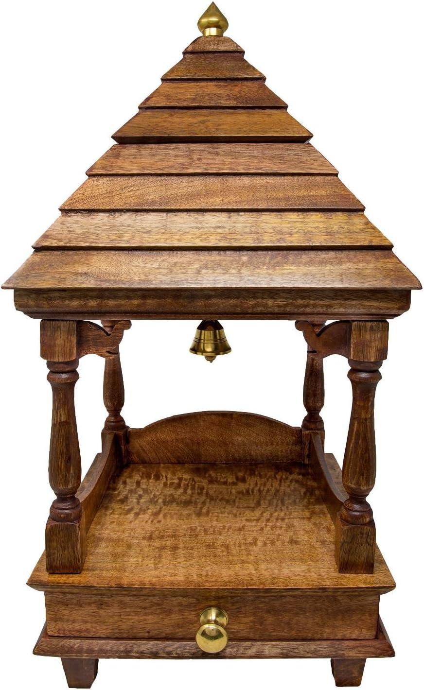 Amazon Com Shalinindia Pooja Mandap Temple For Home Wooden Temple Home Temple Pooja Mandir 20x10x10 Diy Home Kitchen