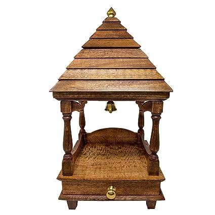 Amazon Com Shalinindia Pooja Mandap Temple For Home Wooden Temple