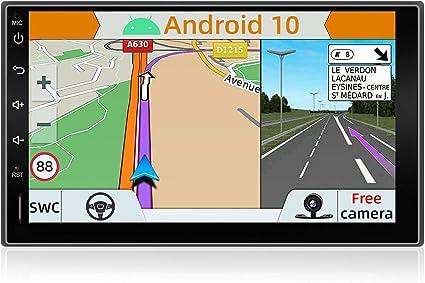 // Controllo del volante // 4G // WiFi//Bluetooth//Mirrorlink//Carplay//USB//SD Supporto DAB YUNTX Android 8.1 Doppio Din Autoradio 7 Pollice Telecamera Posteriore Gratuiti GPS 2 Din