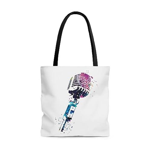 Watercolor Microphone Tote Bag, Books Bag ... - Amazon.com