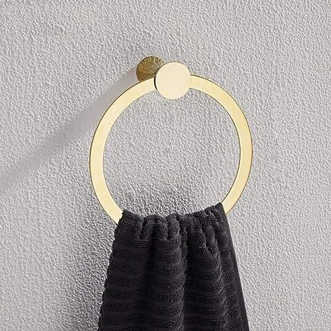 Badetuchhalter Stanzfreier Handtuchaufh/ängungsring Gold Kupfer massiv runder Handtuchhalterring Handtuchring perforiert