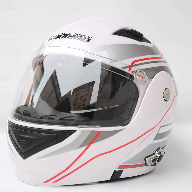 Amazon.com: MOPHOTO - Casco de motocicleta con Bluetooth ...