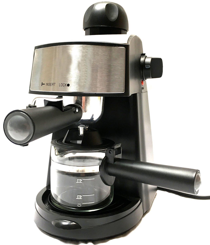 Powerful Steam Espresso And Cappuccino Maker Barista Maxim Presto Pressure Cooker 24 Cm 7 L Silver Express Machine Black Make European Kitchen Dining