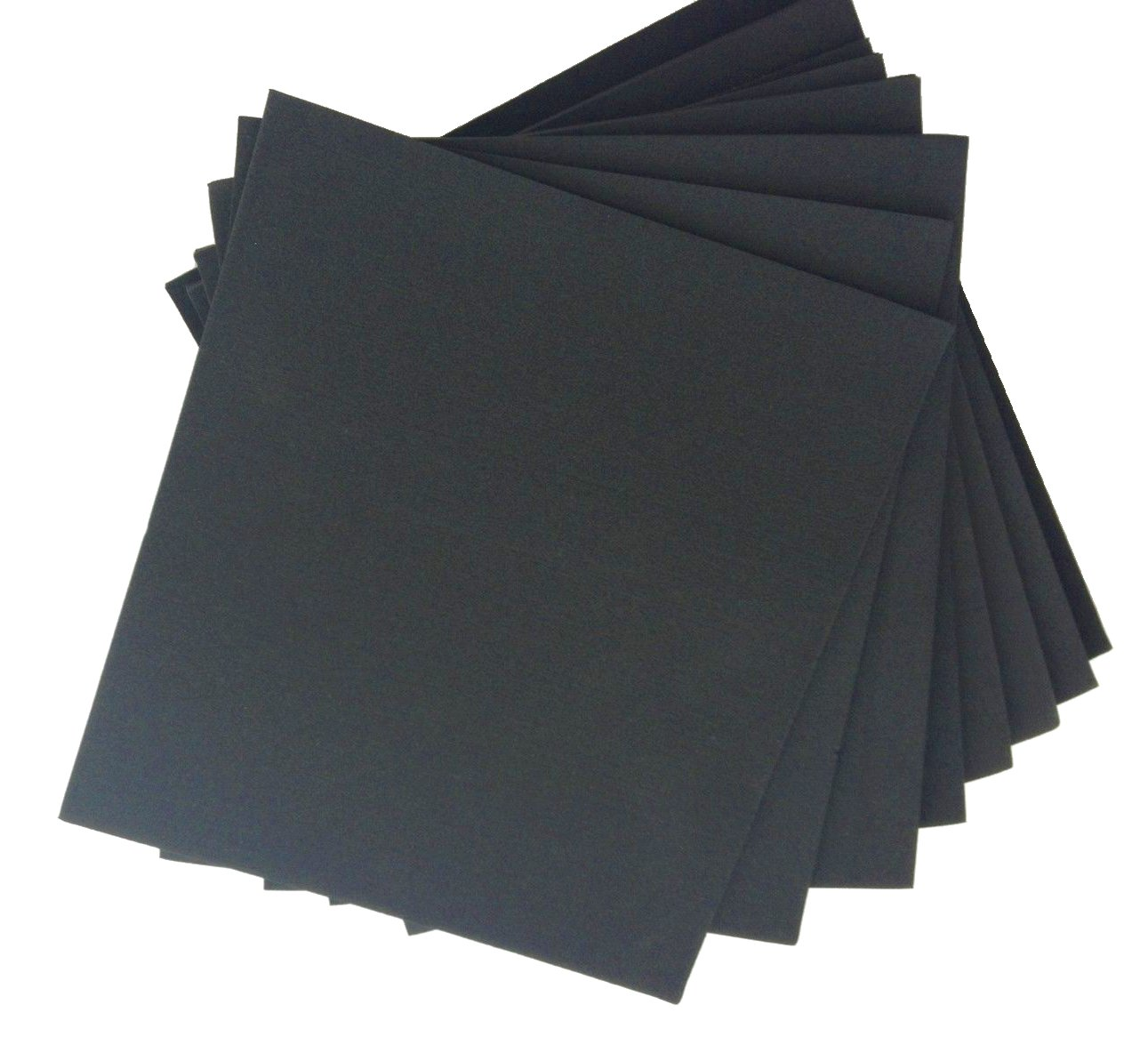 "XCEL Large Rubber Sheets Value Pack, Neoprene, 8 Piece 9"" x 10"" Assorted Thickness DIY for Gasket Material, Made in USA, Easy Cut Material"