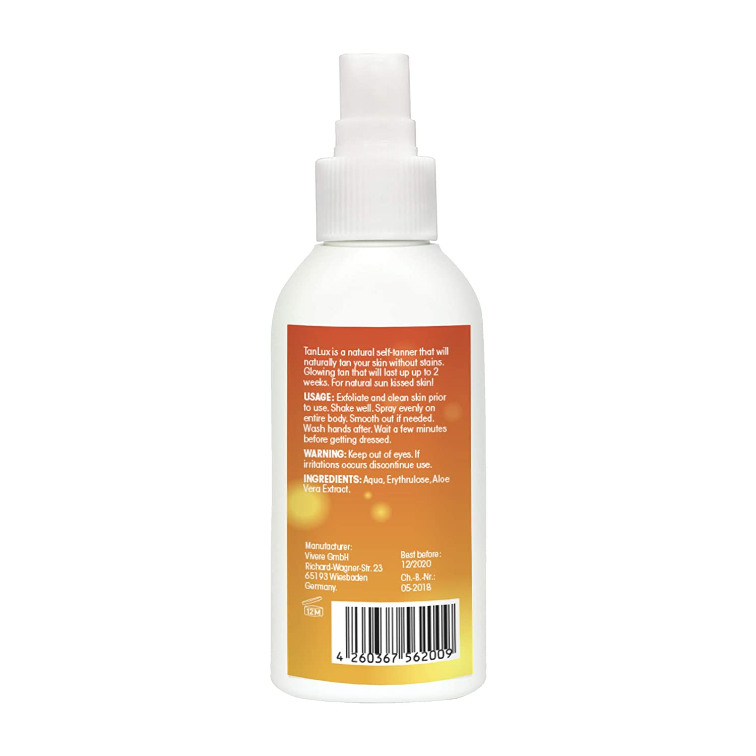 Best Self Tanner 2020.Amazon Com Natural Tanning Spray By Tanlux 100ml Organic