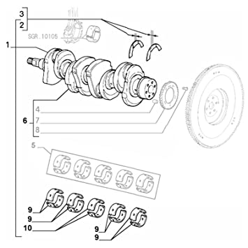 genuine alfa romeo crankshaft w/ half bearings: amazon co uk: car &  motorbike