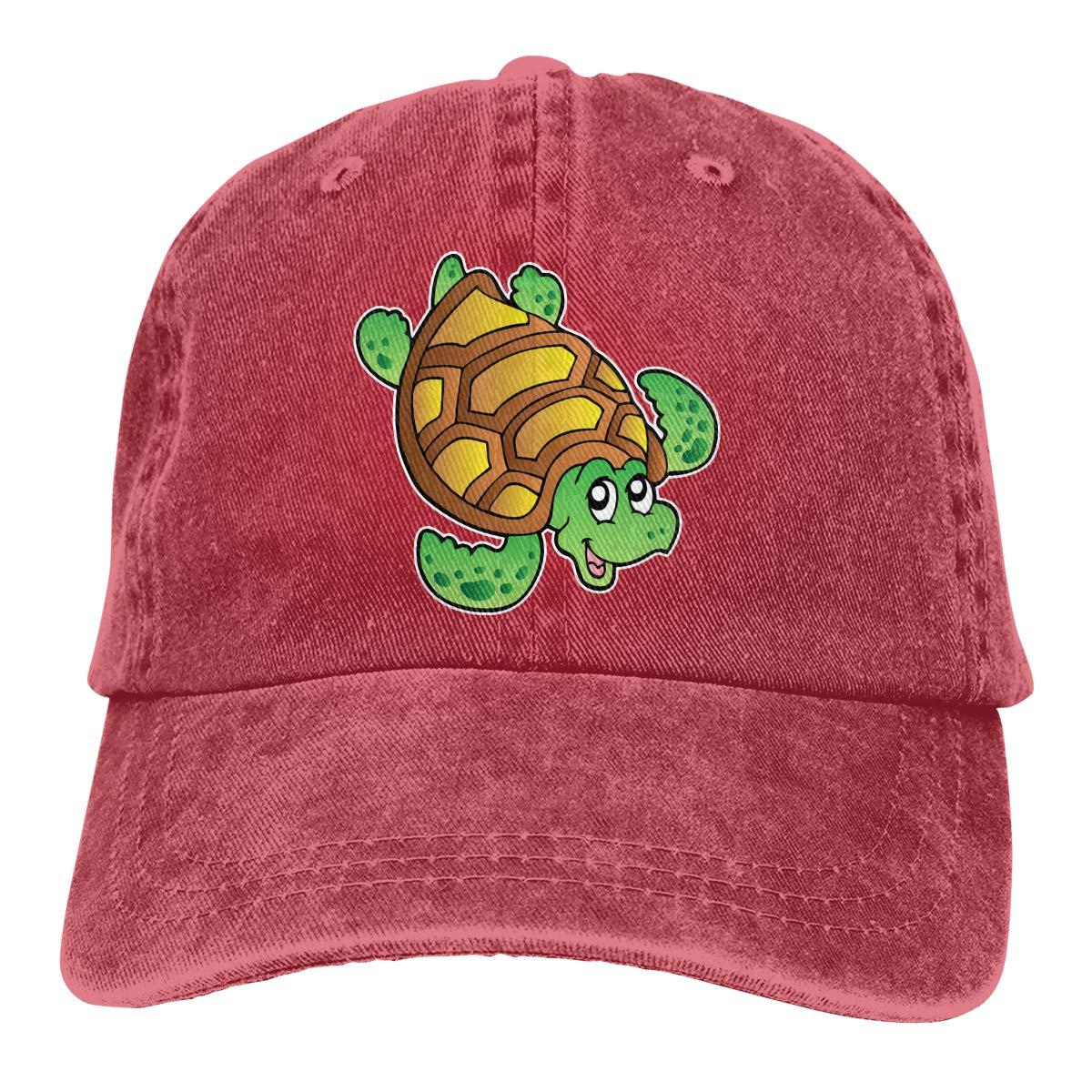 Unisex Cute Little Sea Turtle Vintage Washed Dad Hat Cute Adjustable Baseball Cap