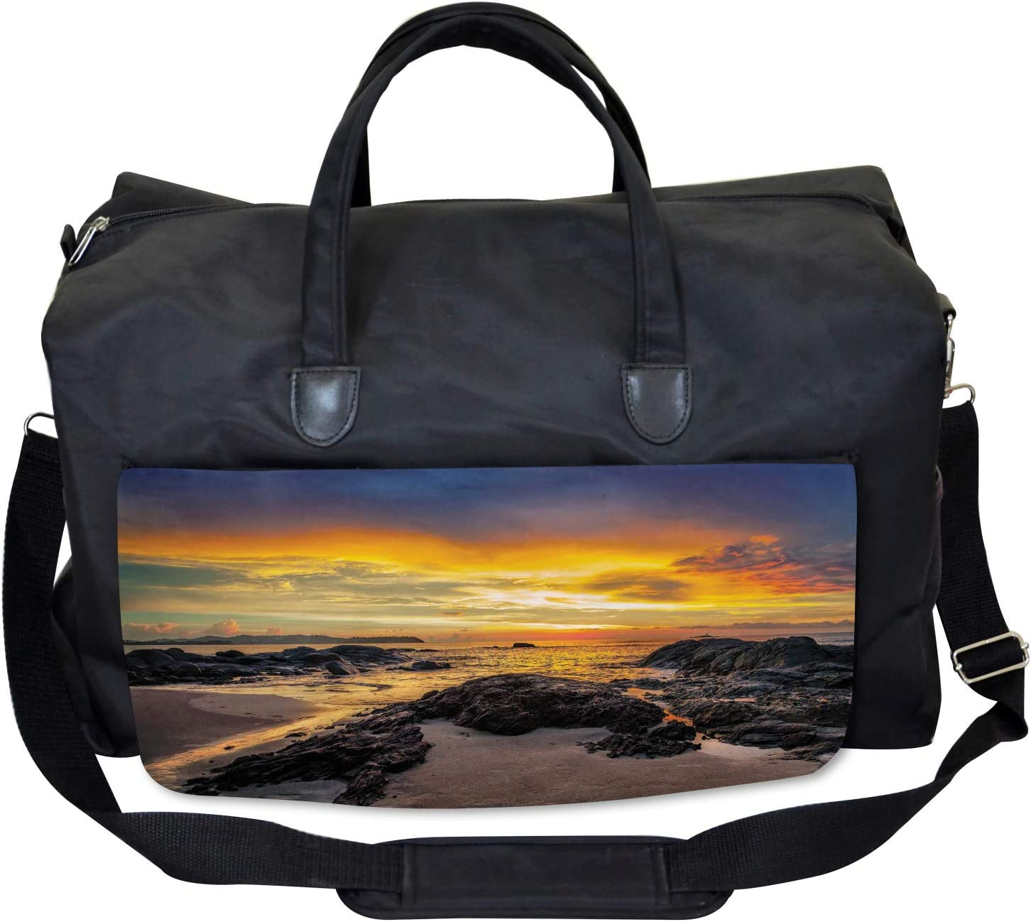 Majestic Sunrise Sky Ambesonne Colorful Gym Bag Large Weekender Carry-on