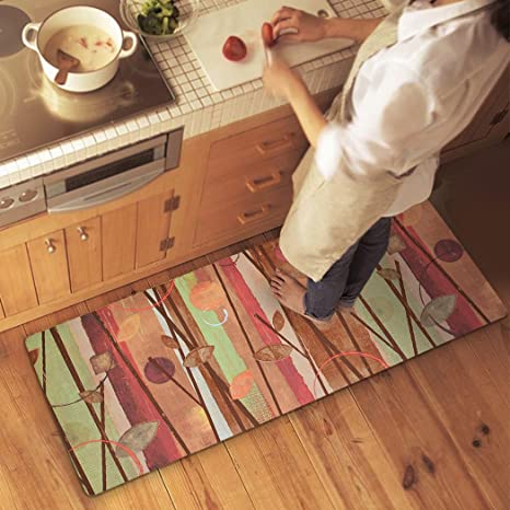 Exceptionnel Ustide Fall Leaves Pattern Rug Non Skid Rubber Backed Mat Bathroom/Foyer/ Kitchen
