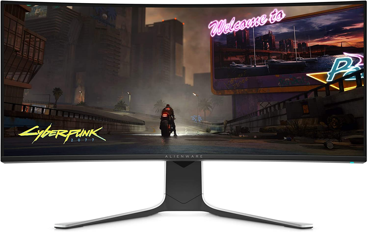 Alienware NEW Curved 34 Inch WQHD 3440 X 1440 120Hz, NVIDIA G-SYNC, IPS LED Edgelight, Monitor - Lunar Light, AW3420DW (Renewed)