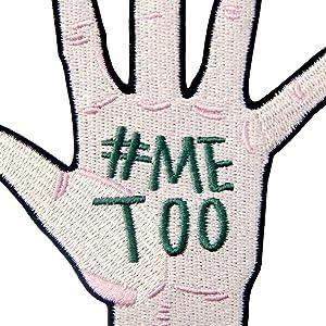 #MeTooセクシャルハラスメントとアサルトに対する刺繍のバッジのアイロン付けまたは縫い付けるワッペン