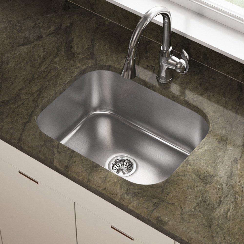 Steel Kitchen Sink 2318 16 gauge undermount single bowl stainless steel sink bar 2318 16 gauge undermount single bowl stainless steel sink bar sinks amazon workwithnaturefo