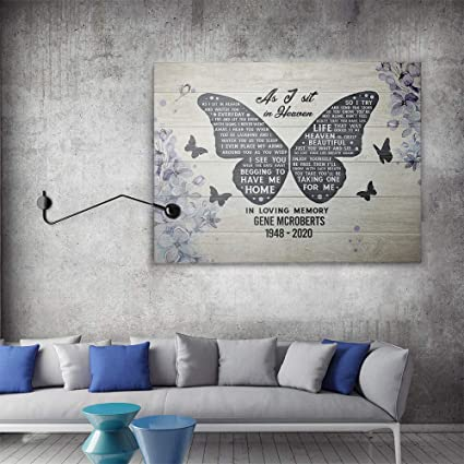 Grey /& White Canvas Wall Art Picture Print HEAVEN QUOTE Life ALL SIZES