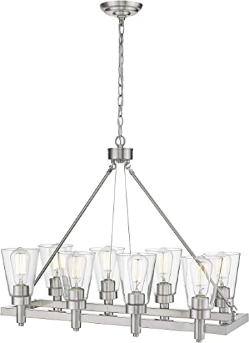 Ove Decors Satin Nickel Sinatra V 8 LED Pendant Light
