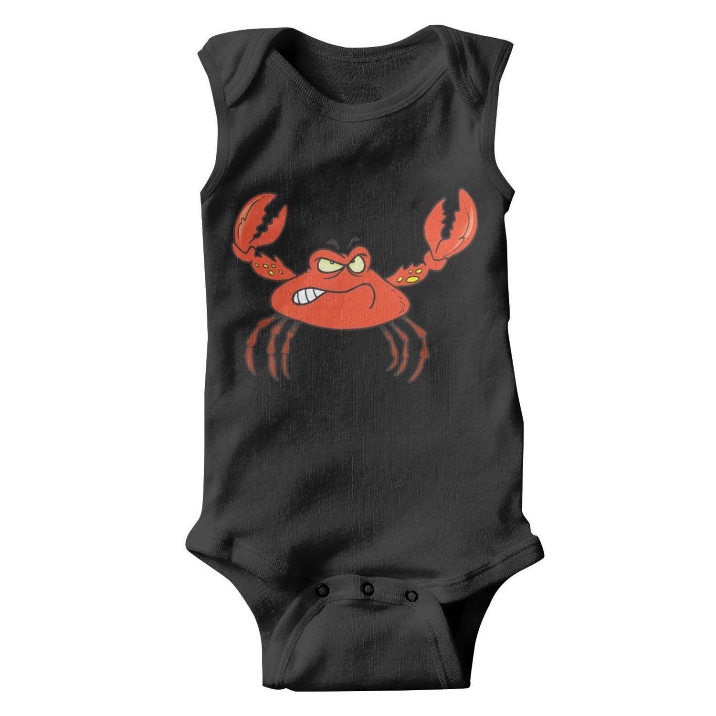Voslin Crab Art Crab Stickers Unisex Baby Black Romper Cheap