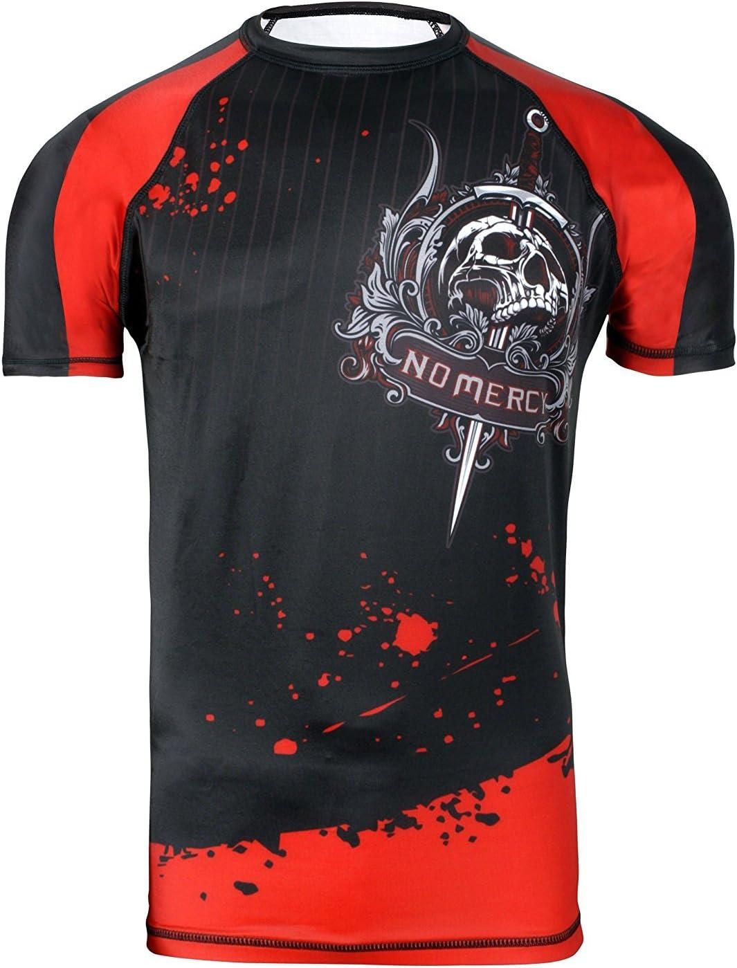 Camiseta de neopreno para Artes Marciales Mixtas (MMA) con capa base de compresión, manga corta para hombre, color negro: Amazon.es: Deportes y aire libre