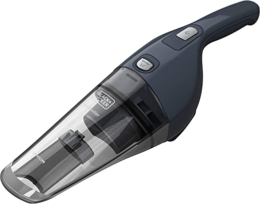 Black+Decker NVB-215-WA Aspirador de mano ciclónico inalámbrico, batería de litio, sólidos, 7.2 V, 11 W, 0.37 litros, 78 Decibelios, Gris: Amazon.es: Hogar