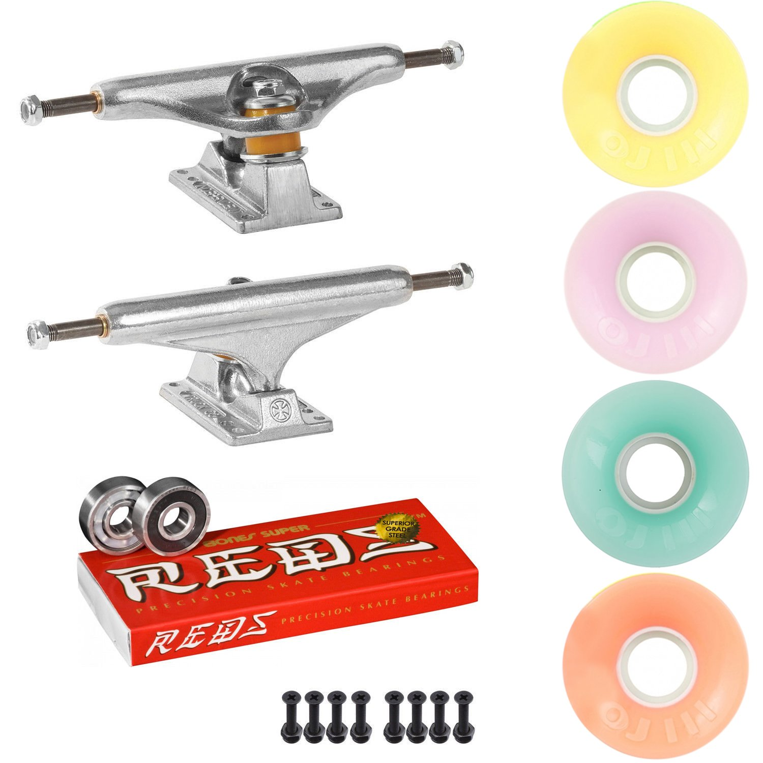 スケートボードキットIndy 159 Trucks OJ Mini Juice 55 mm 78 a WheelsパステルSuper Reds   B07DQTDWH5