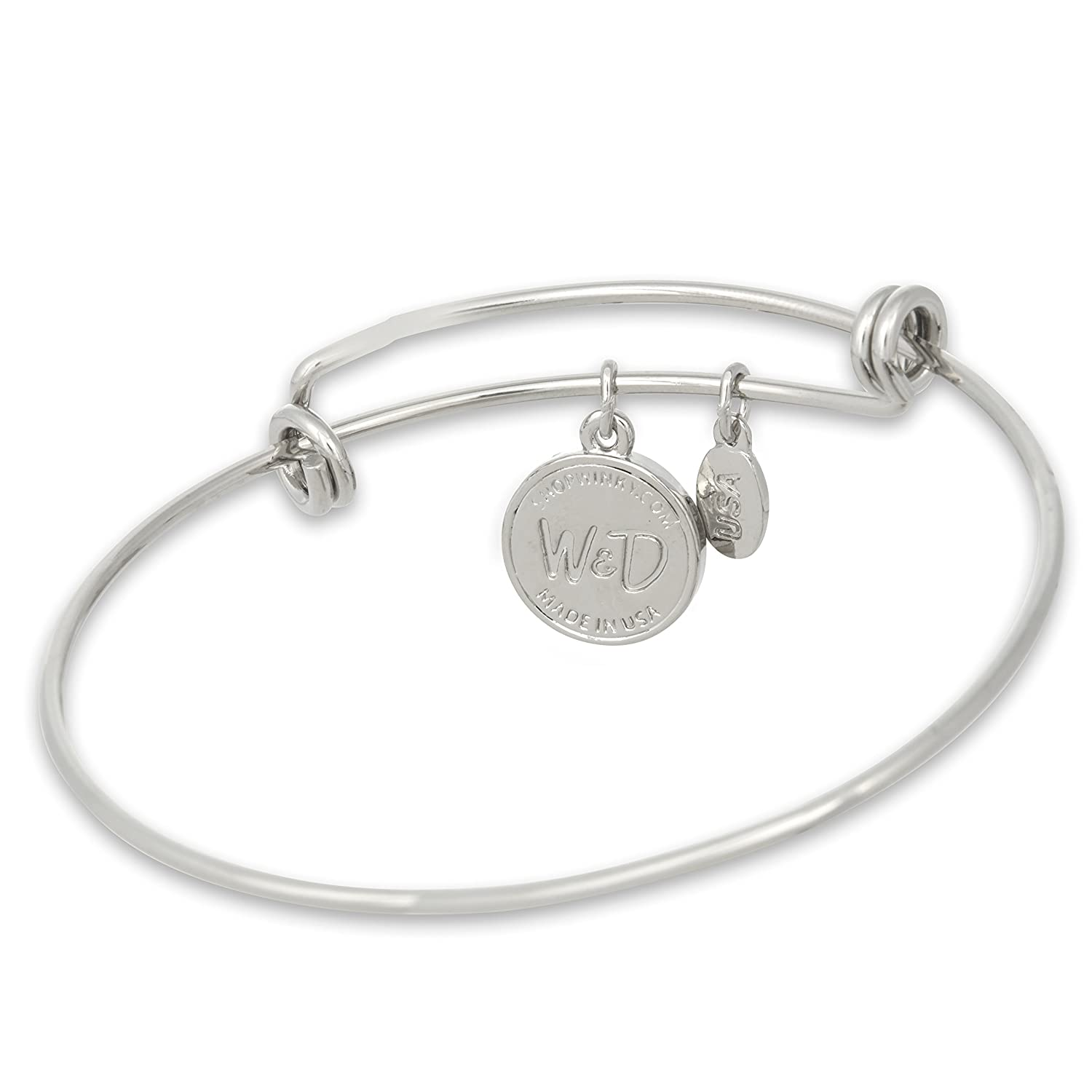 The Adjustable Band Bangle Bracelet featuring the 8-ball