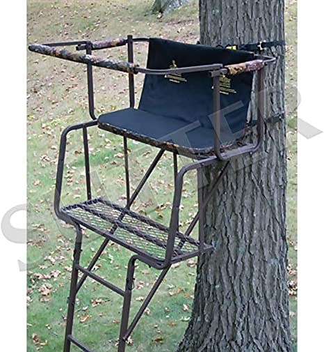 SUTTER Puesto de Caza de árbol transportable para 2 Hombres y Escalera de 4,5m / en Acero Robusto, Asiento y Respaldo tapizados: Amazon.es: Deportes y aire libre