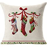 Nation Pillow Case Clearance ♥ Christmas Linen Square Throw Flax Decorative Cushion Pillow Cover